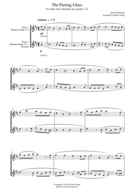 The Parting Glass (for flute duet, suitable for grades 2-5)