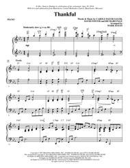 Thankful - Piano