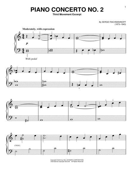 Piano Concerto No. 2, Third Movement Excerpt