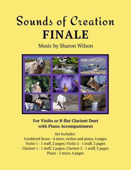 Sounds of Creation: Finale (violin or B-flat clarinet duet with piano accompaniment)