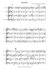 Jerusalem for String Quartet