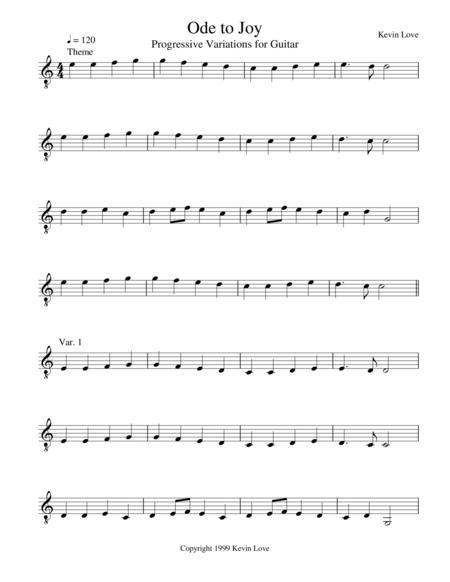 Ode to Joy - Progressive Variations for Guitar