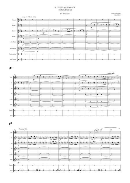 Slovenian Sonata for Flute Choir