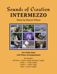 Sounds of Creation: Intermezzo (violin duet with piano accompaniment)