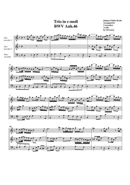 Trio BWV Anh 46 (arrangement for 3 recorders)