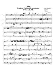 Choral, Herr Jesu Christ, dich zu uns wend BWV Anh.172 (arrangement for 3 recorders)