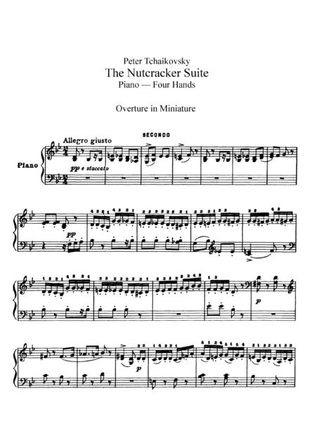 Tchaikowsky from The Nutcracker Suite, for piano duet(1 piano, 4 hands), PT801