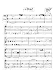 Maria zart (arrangement for 3 recorders)