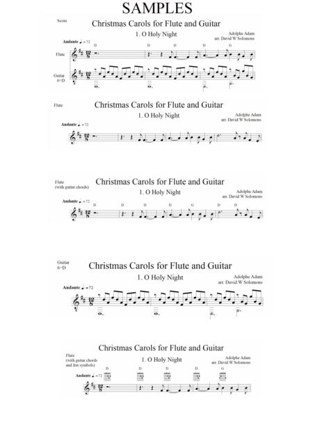 Christmas Carols for flute and guitar O Holy Night