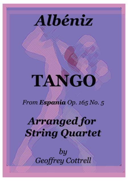 Albéniz Tango arranged for string quartet