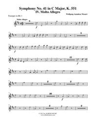 Mozart Symphony No. 41, Jupiter, Movement IV - Trumpet in Bb 1 (Transposed Part), K. 551