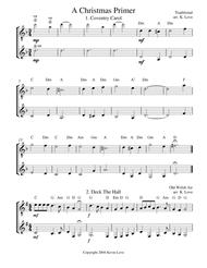 A Christmas Primer (Guitar Duo) - Score and Parts