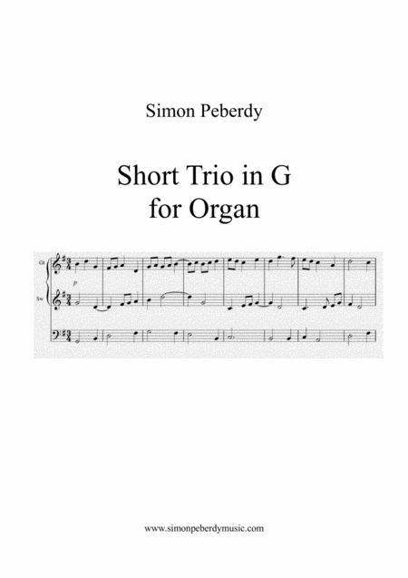 Organ Short Trio in G