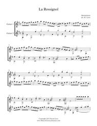 La Rossignol (Guitar Duo) - Score and Parts