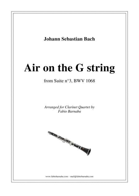 Air on the G string - for Clarinet Quartet or Clarinet Choir