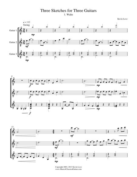 Three Sketches for Three Guitars - Score and Parts
