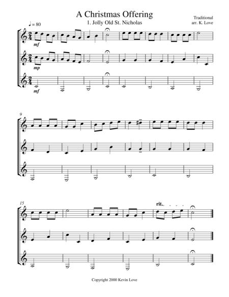 A Christmas Offering (Guitar Trio) - Score and Parts