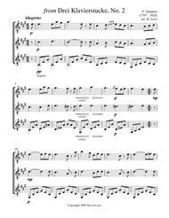 from Drei Klavierstucke, No. 2 (Guitar Trio) - Score and Parts
