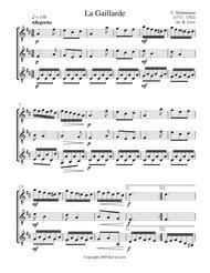La Gaillarde (Guitar Trio) - Score and Parts