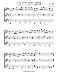 Jesu, Joy of Man's Desiring (Guitar Trio) - Score and Parts