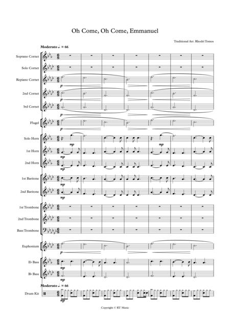 Download Oh Come, O Come, Emmanuel. Brass Band Arrangement. Rock ...