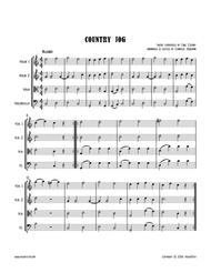 C. CZERNY : Country Jog, an easy string quartet