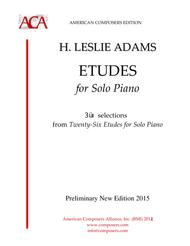 Etudes for Solo Piano, 10 selections