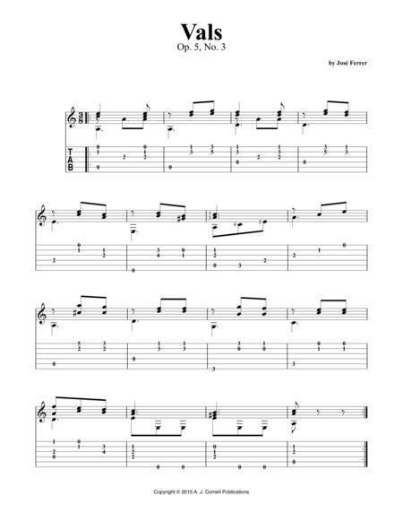 Vals, Op. 5, No. 3