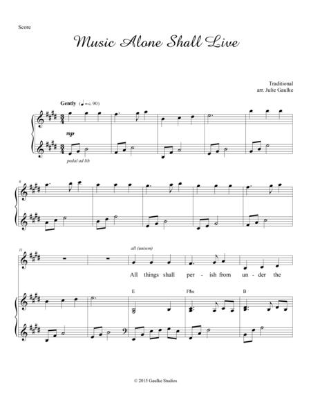 Download Music Alone Shall Live Sheet Music By Traditional Sheet
