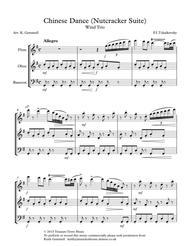 Chinese Dance (Nutcracker Suite): Wind Trio