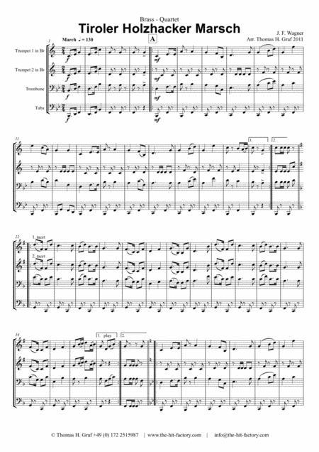 Tiroler Holzhacker Marsch - German Polka March - Oktoberfest - Brass Quartet