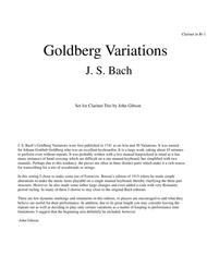 J. S. Bach Goldberg Variations set for Clarinet Trio - PARTS