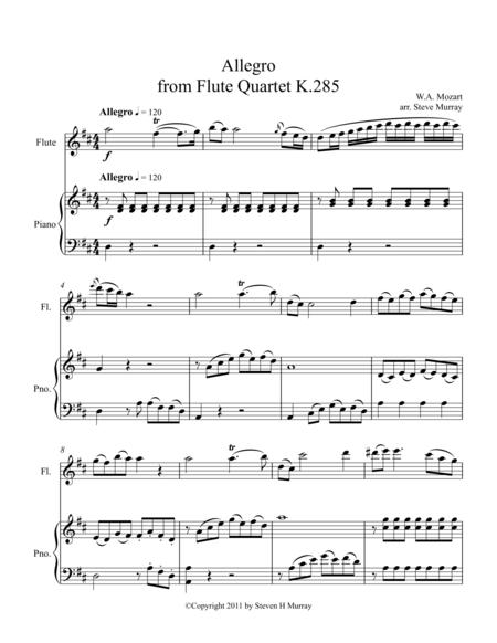 Allegro from Flute Quartet K.285 (Flute Solo with Accompaniment)