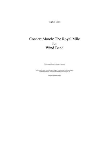 Concert March - The Royal Mile