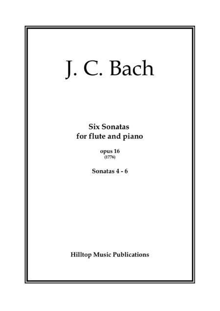 J.C. Bach Six Sonatas for flute and piano No 4 - 6