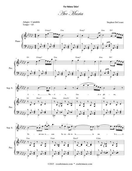 Ave Maria for Soprano Solo (Vocal Score)