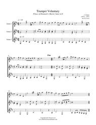 Trumpet Voluntary and Trumpet Tune (Guitar Trio) - Score and Parts