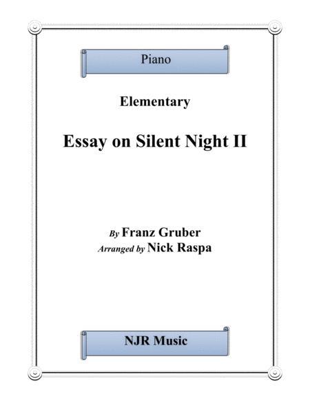 Essay on Silent Night II (elementary piano solo)