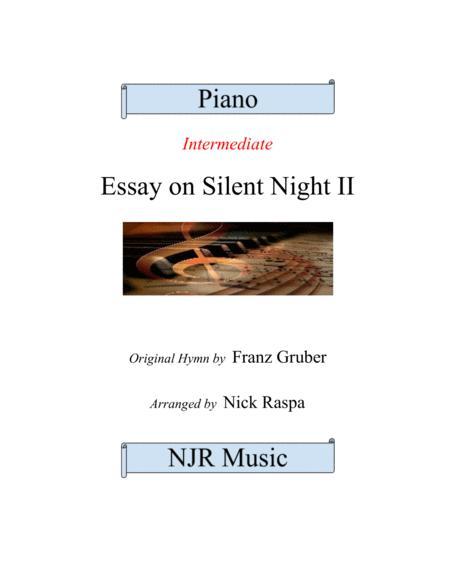 Essay on Silent Night II (intermediate piano solo)