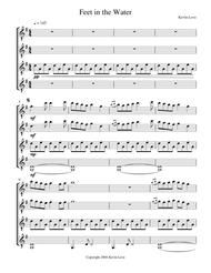 Feet in the Water (Guitar Quartet) - Score and Parts