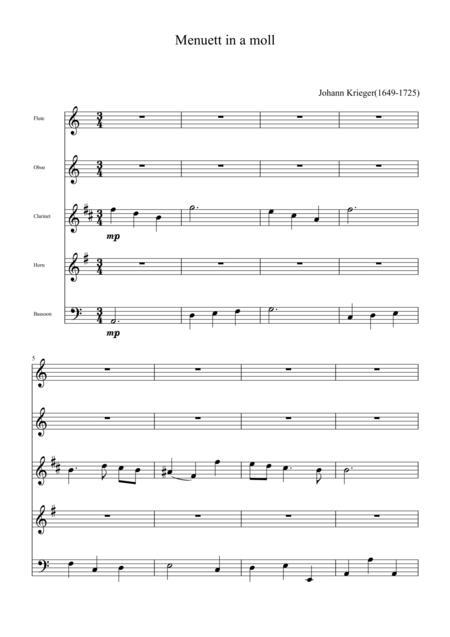 Menuett in A minor