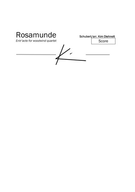 Schubert: Rosamunde - Entr'acte for woodwind quartet
