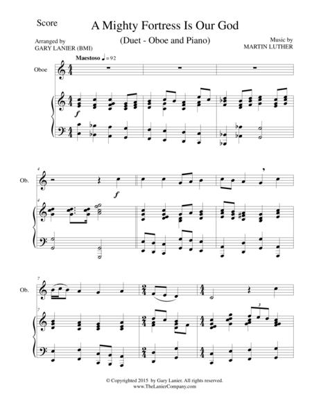 A MIGHTY FORTRESS IS OUR GOD (Duet – Oboe and Piano/Score and Parts)