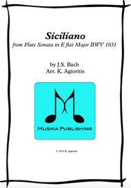 Siciliano - for Saxophone Quartet