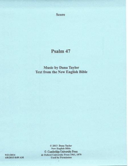 Psalm 47, Opus No. 11