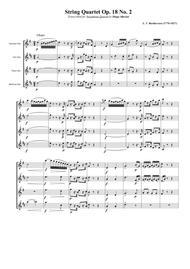 String Quartet Op. 18 No. 2 for Saxophone Quartet (SATB)