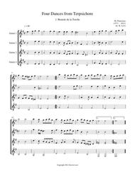 Four Dances from Terpsichore (Guitar Quartet) - Score and Parts