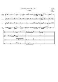 Concerto grosso, Op.6, no.7 (arrangement for 4 recorders)