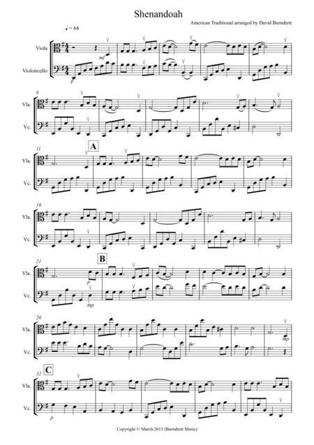 Shenandoah for Viola and Cello