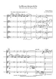 La fille aux cheveux de lin (The Girl with the Flaxen Hair), by Claude Debussy, arranged for 5 violins by Adrian Mansukhani